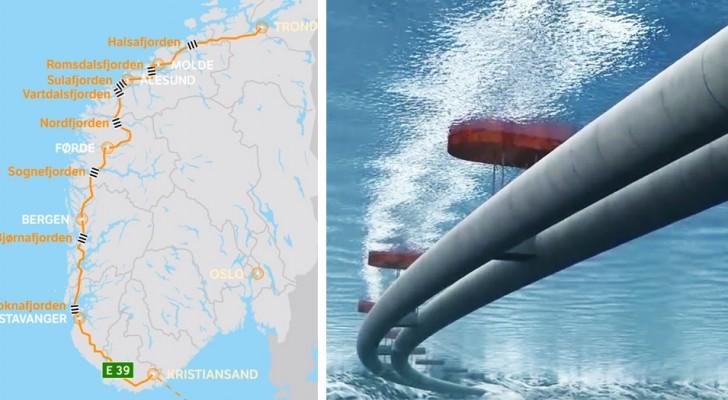 Deze snelweg van 47 miljard zal alle fjorden met elkaar verbinden en is het grootste Noorse bouwproject ooit