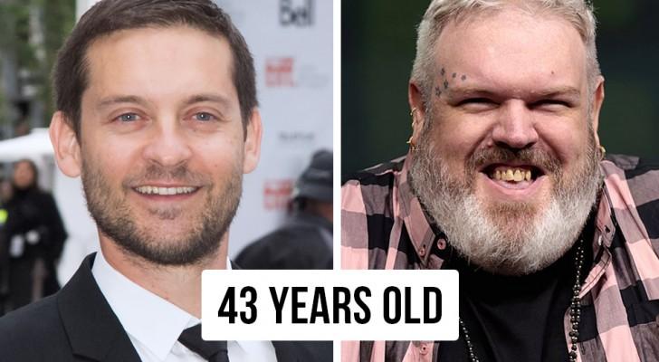 12 Vergleiche berühmter Menschen, mit denen Sie ihr wahres Alter erkennen werden