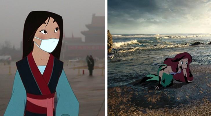 Disneyfiguren in de wereld van vandaag: het werk van deze kunstenaar speelt direct in op het geweten van ons allemaal