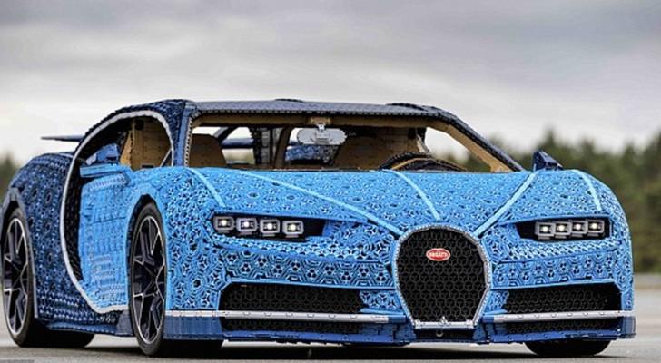 Bij LEGO hebben ze op ware grootte een volledige werkende Bugatti Chiron nagemaakt