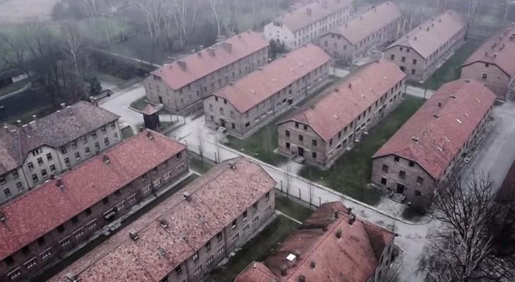 Un drone entra nel campo di Auschwitz e ce lo mostra in tutta la sua agghiacciante grandezza