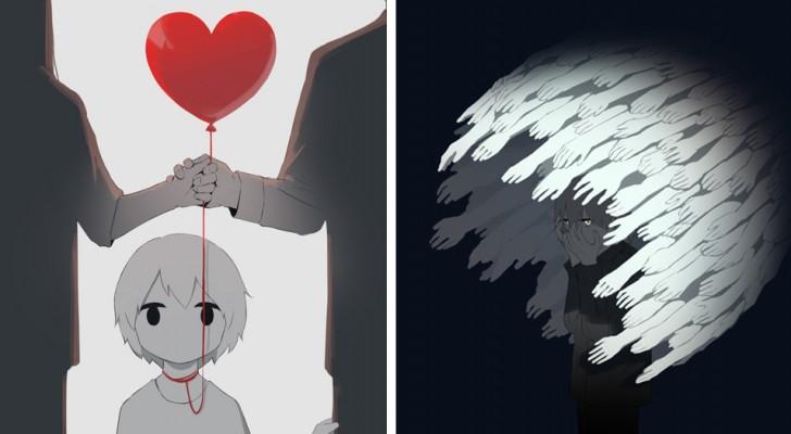 Diese Illustrationen erzählen von einigen sehr gewöhnlichen Gefühlen ... über die wir kaum sprechen