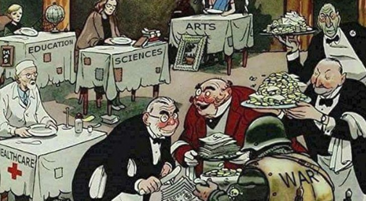 Diese Illustration ist mehr als 60 Jahre alt, aber leider immer noch sehr aktuell