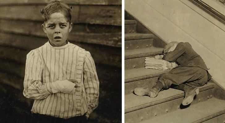 Op 23 foto's kunnen we zien hoe kindarbeiders begin de 20ste eeuw leefden voordat kinderarbeid werd afgeschaft