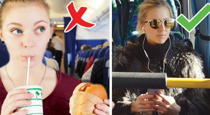 12 règles de bon sens que TOUS les passagers des transports publics devraient connaître