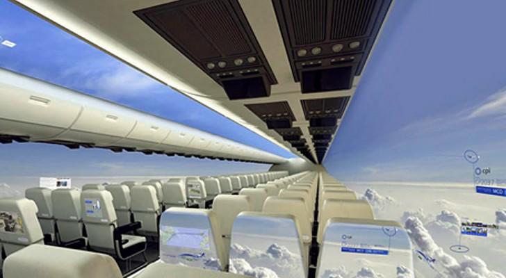 Gli aerei senza finestrini trasformeranno il volo in un'esperienza indimenticabile... e super-panoramica