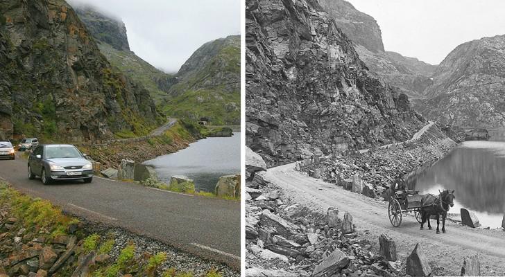 10 photos de la Norvège prises avec 100 ans d'écart: trouvez les différences