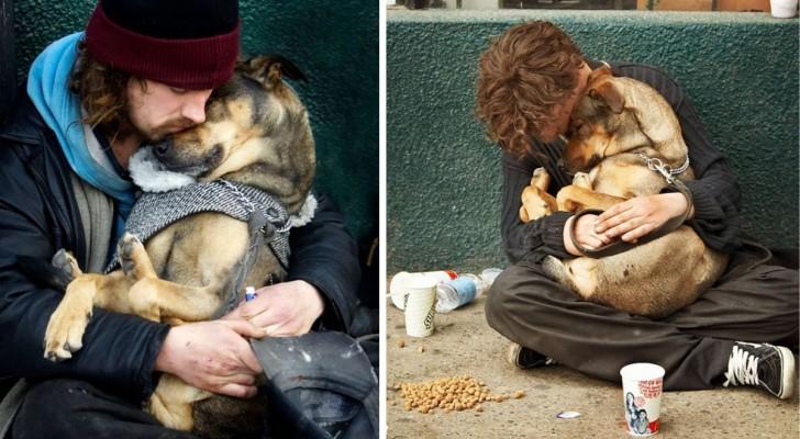 Deze Foto's laten zien dat een hond altijd van je zal houden ongeacht hoe rijk je wel of niet bent