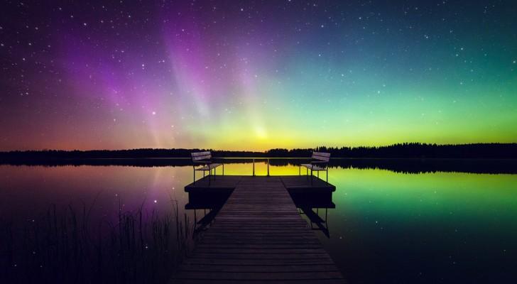 Deze fotograaf reist naar Finland en maakt foto's van het noorderlicht zoals je dat nog nooit gezien hebt