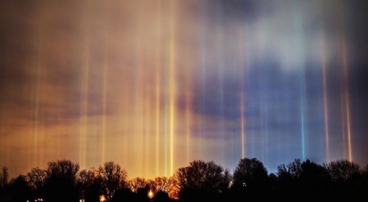 Bij dit zeldzame winterverschijnsel wordt de avondlucht op bijna bovennatuurlijke manier verlicht