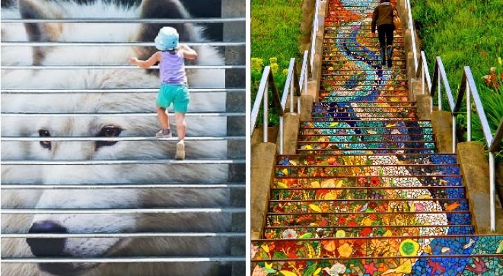 32 montées de marche que la street art a transformé en des oeuvres d'art mémorables