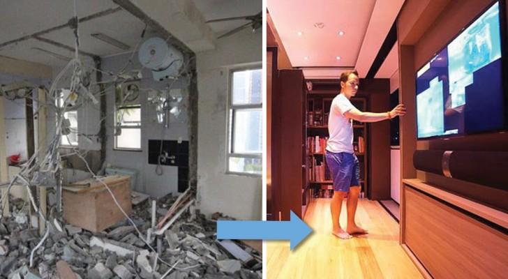 Voici comment une maison de 28 m² peut contenir une baignoire, une salle de gym et un home théâtre