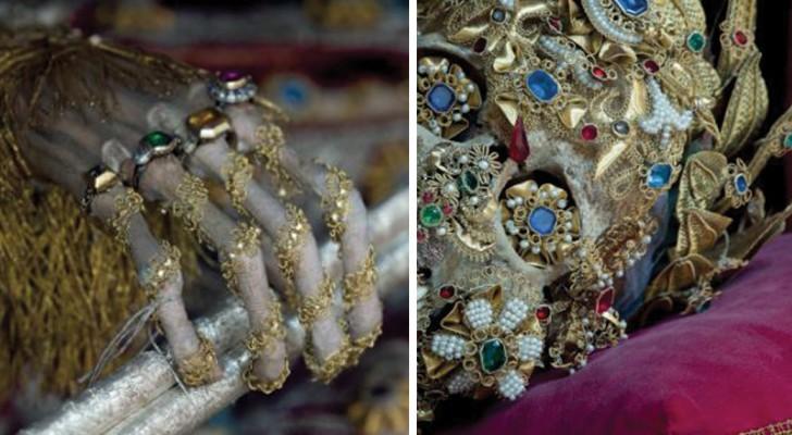 Die faszinierenden Bilder der begrabenen mittelalterlichen Märtyrer zwischen Gold und Edelsteinen