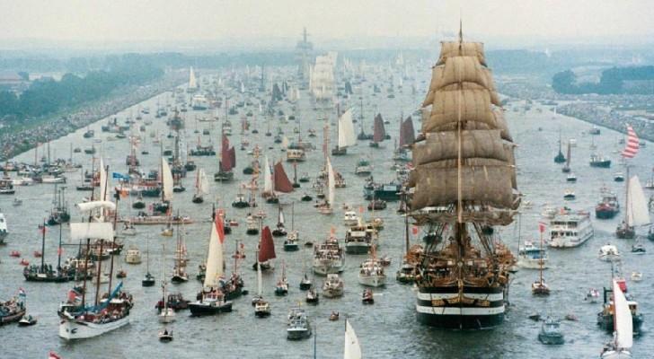 Spektakel In Amsterdam Verwelkomt De Grootste Zeevloot Ter Wereld