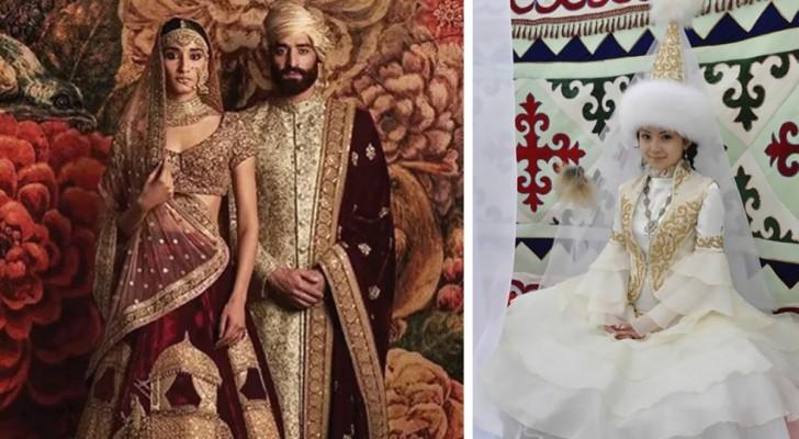 Kleurrijk, verfijnd en vol geschiedenis: Dit is de mooiste trouwkleding ter wereld
