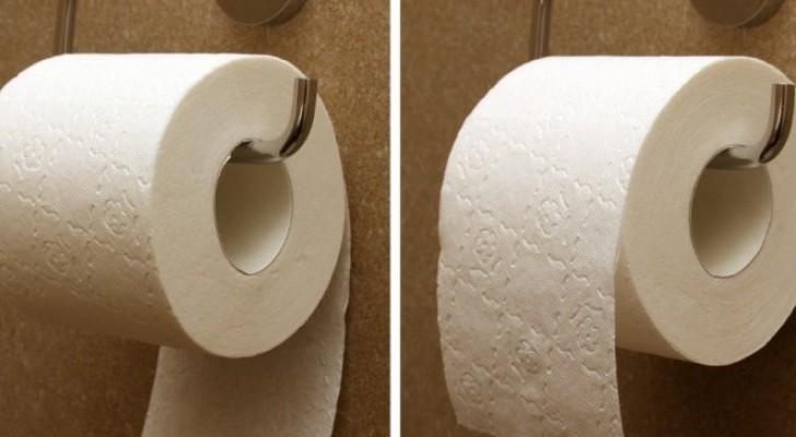 Wie hängt man Toilettenpapier richtig herum auf? Die Antwort gibt der Erfinder höchst persönlich!