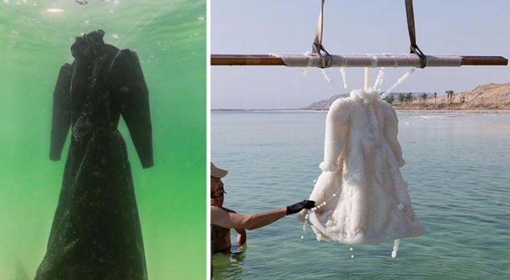 Dieses Kleid war 2 Jahre lang im toten Meer versenkt. Das Ergebnis ist ein Meisterwerk!