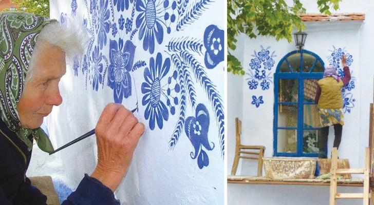 Die Frau ist 87 Jahre alt und unglaublich talentiert: Seht, wie sie ihr Dorf verwandelt hat